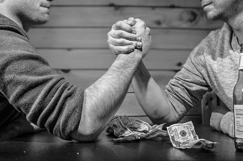 Don't arm wrestle with your business partner